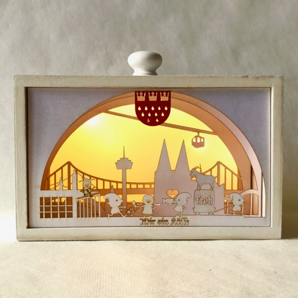 3D LED Dekoleuchte Köln Skyline
