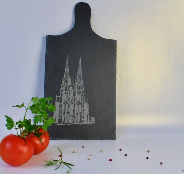 Serviertablett Schiefer Kölner Dom
