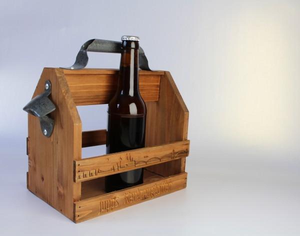 Bierträger mit Flaschenöffner Skyline Köln