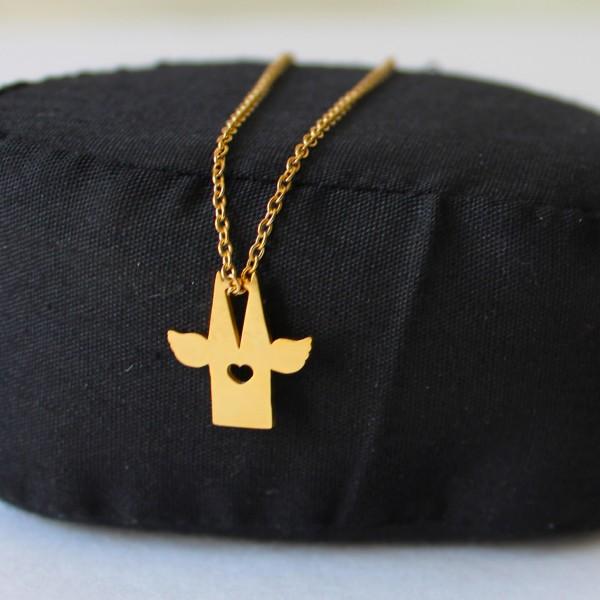 Kölnschmuck Halskette Kölner Dom gold
