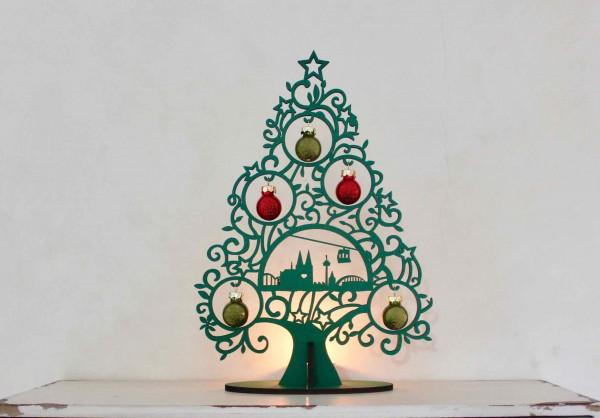 Köln Skyline Geschenk Weihnachtsbaum