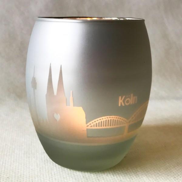 Windlicht Köln silber