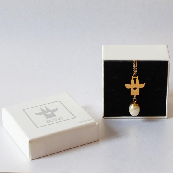 Kölnschmuck Halskette Köln mit Perle
