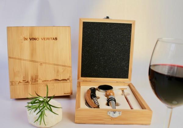 Geschenkbox Köln Weinset Bambus personalisierbar